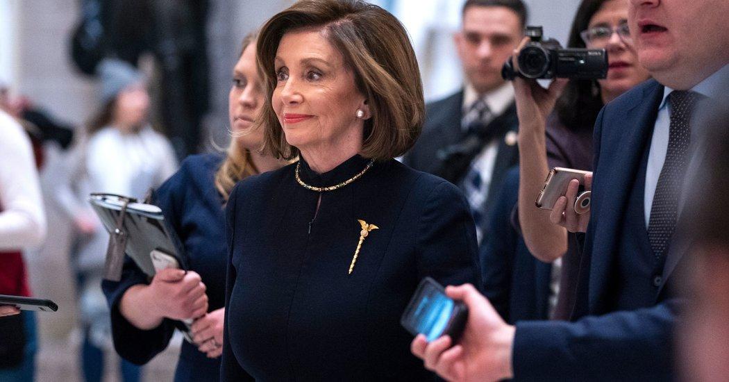 Nancy Pelosi Went Dark for the House Debates. Her Pin Shined.